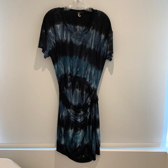 YFB Tie-dye short sleeve wrap dress
